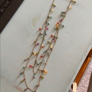 Gold colorful beaded necklace